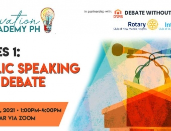 Innovation Academy PH Series 1:  Public Speaking and Debate